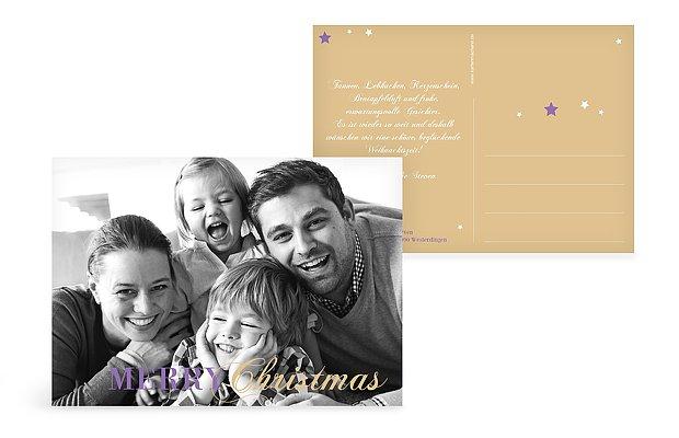 Weihnachtskarte Pure Weihnacht