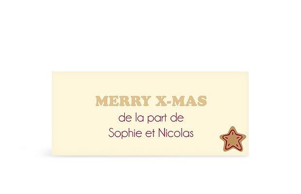 Étiquette cadeau Noël Pain d'épices