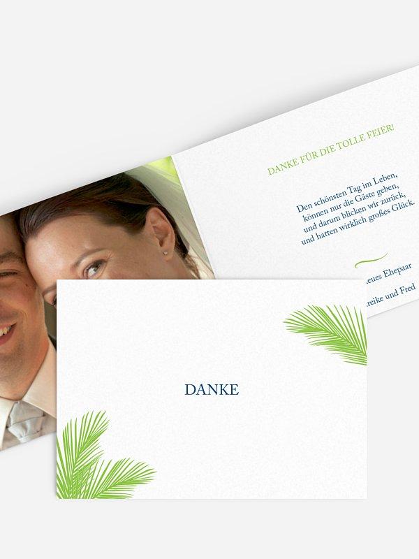 Dankeskarte Hochzeit Palmenblatt