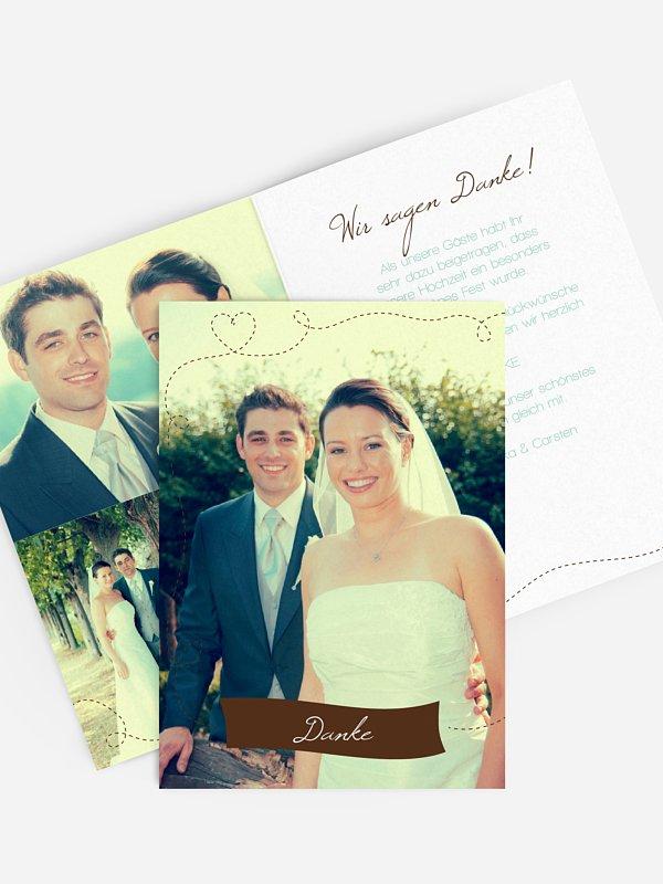 Dankeskarte Hochzeit Weltenbummler