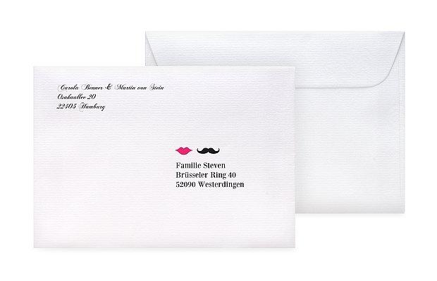 briefumschlag bedruckt moustache. Black Bedroom Furniture Sets. Home Design Ideas