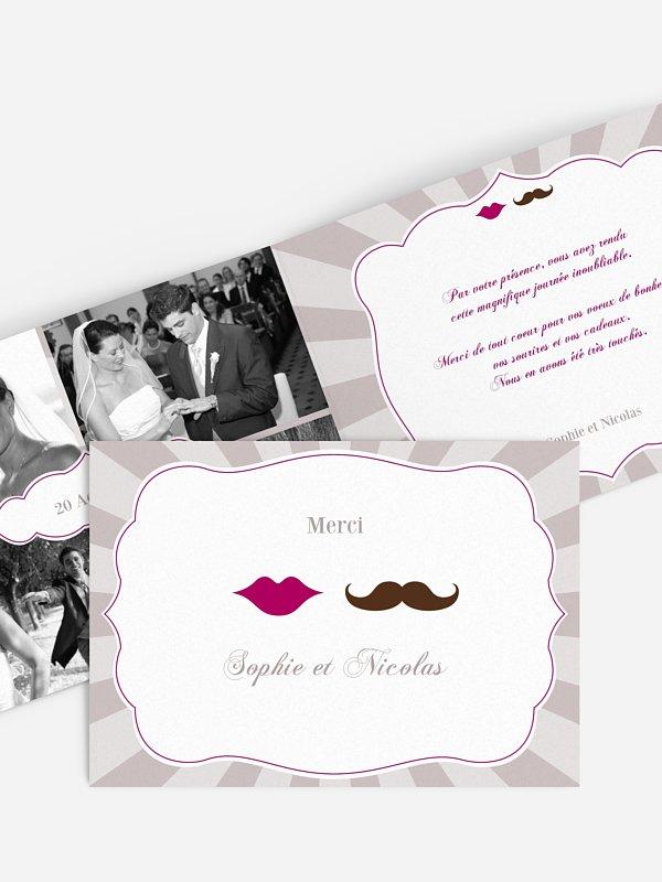 Carte de remerciements Moustache