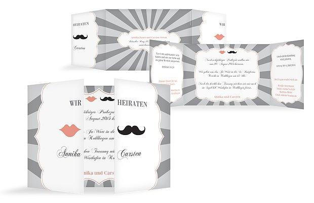 Hochzeitseinladung Moustache