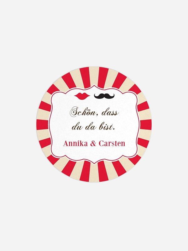 Geschenkaufkleber Hochzeit Moustache