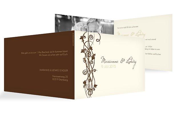 Einladung Goldenen Hochzeit als perfekt einladung design