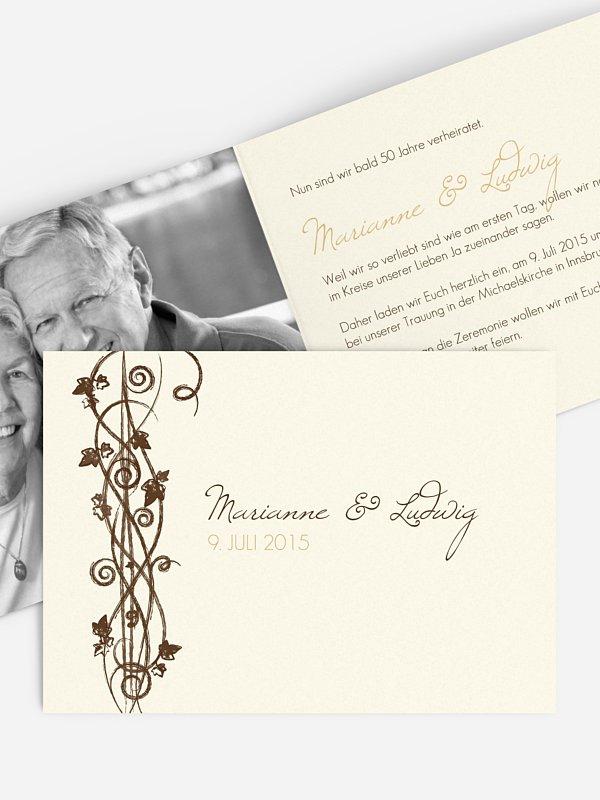 Einladung zur Goldenen Hochzeit Ranke