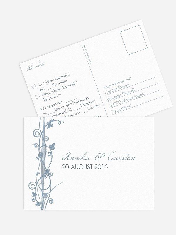 Antwortkarte Hochzeit Ranke