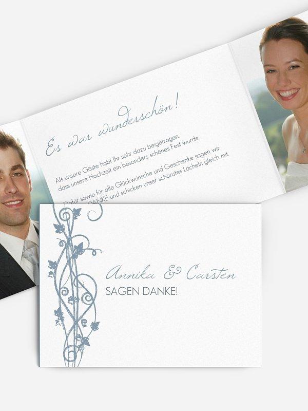 Dankeskarte Hochzeit Ranke