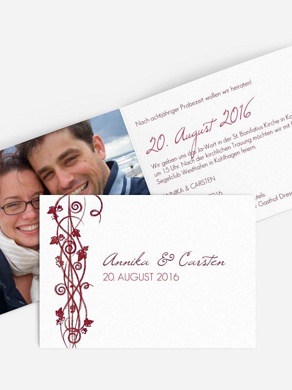 Hochzeitseinladung Ranke