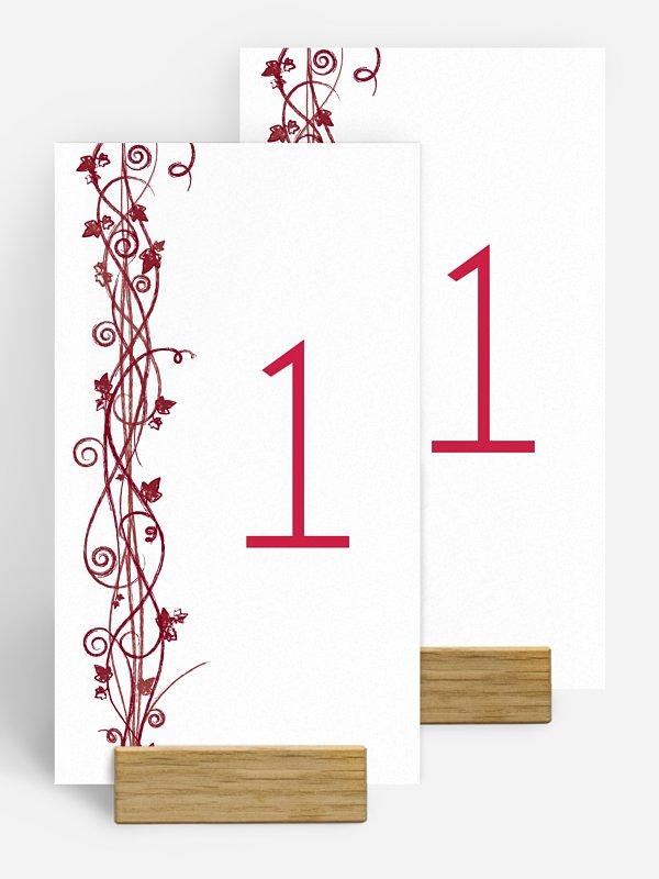 Numéro de table mariage Sarment