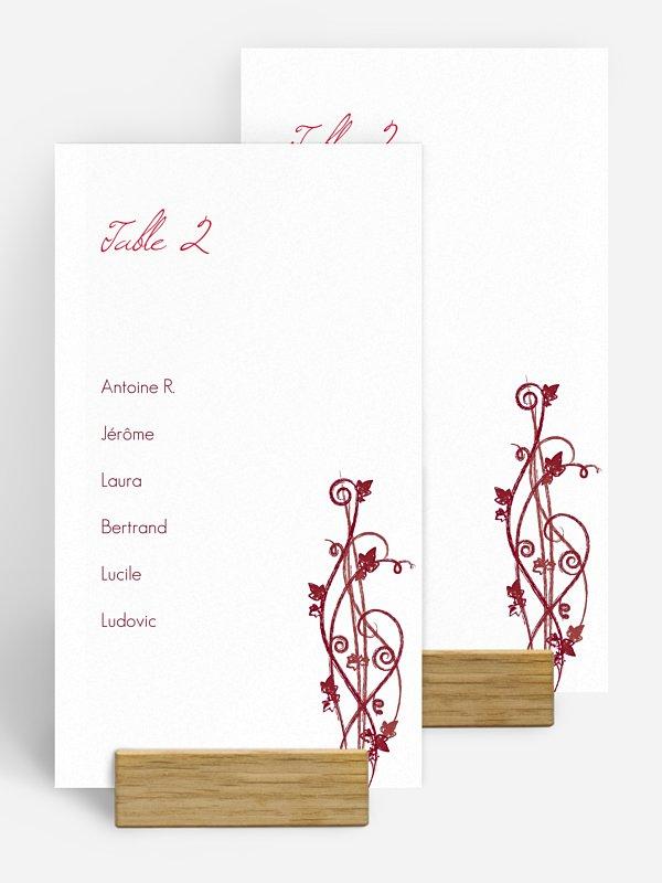 Nom de table mariage Sarment