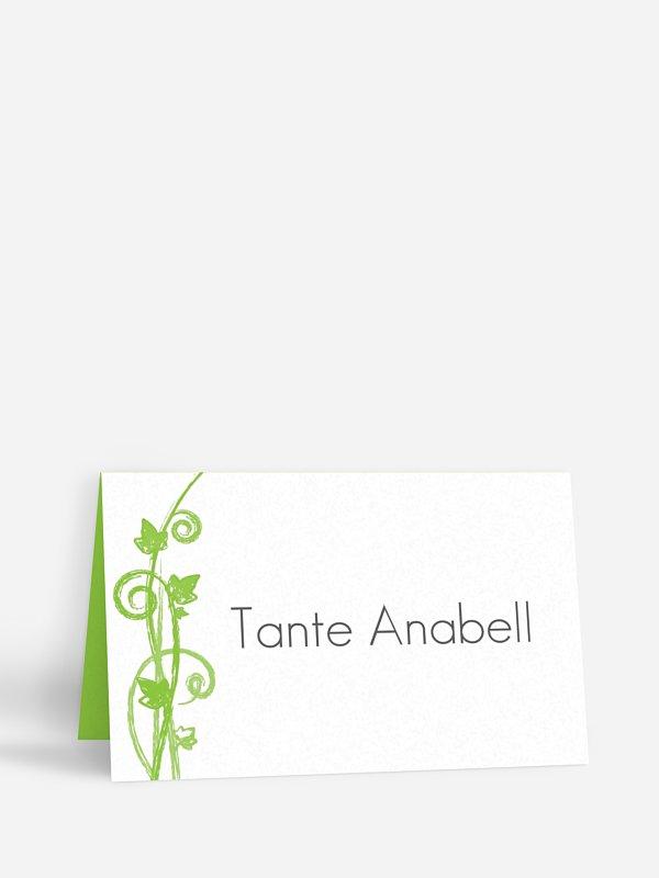Tischkarte Hochzeit Ranke