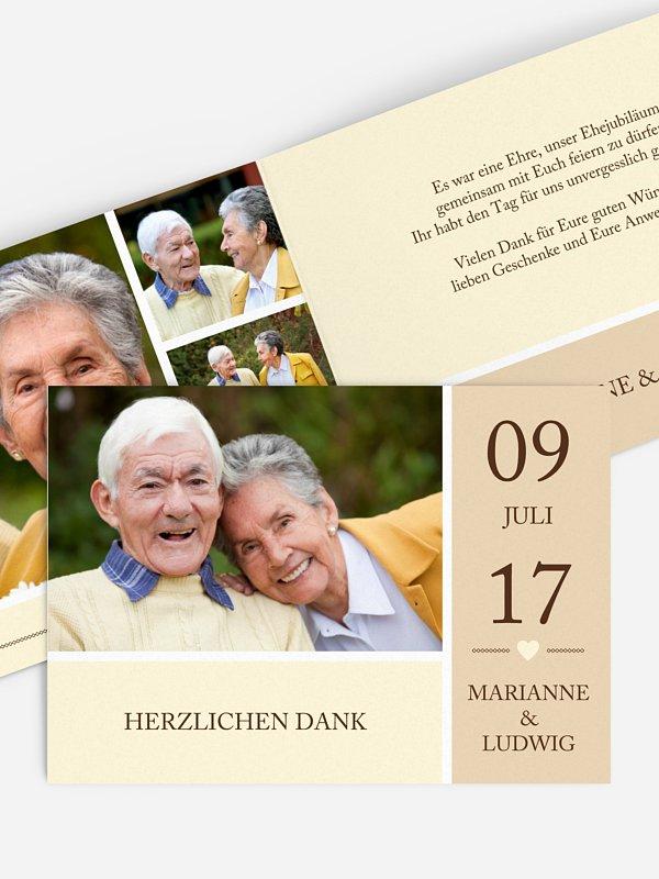 Danksagung zur Goldenen Hochzeit Herzenszeit
