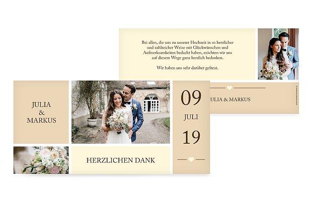Spruch Hochzeit Dankeskarte