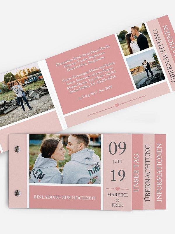 Hochzeitseinladung Herzenszeit