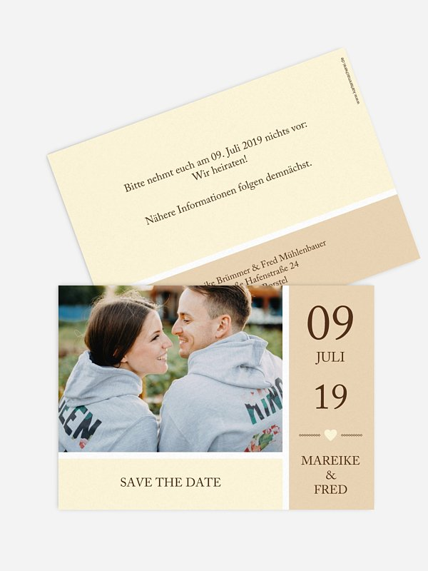 Save-the-Date Karte Herzenszeit
