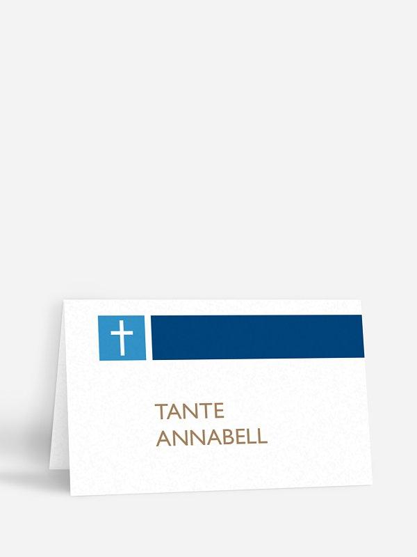 Tischkarte Kommunion Symbolkreuz