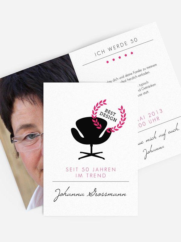 Einladung 50. Geburtstag Best Design