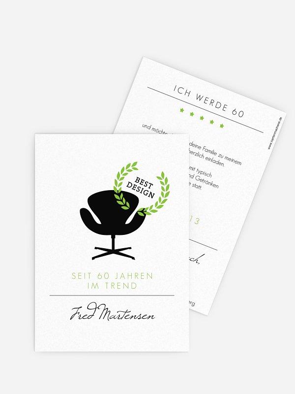 Einladung 60. Geburtstag Best Design