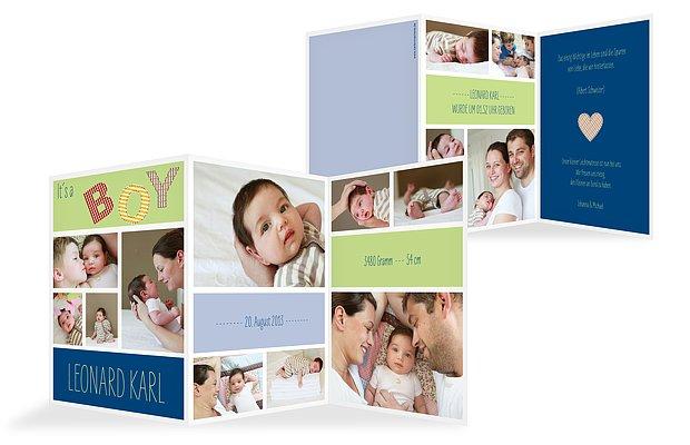 "Geburtskarte ""It´s a Boy"""