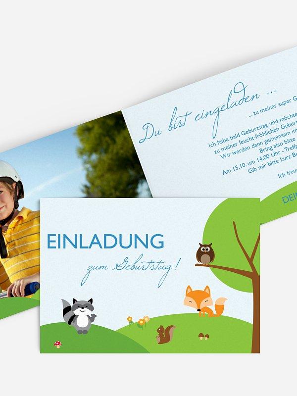 Kindergeburtstagseinladung Waldfreunde
