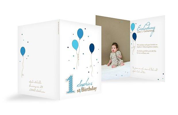 Kindergeburtstagseinladung 1st Birthday