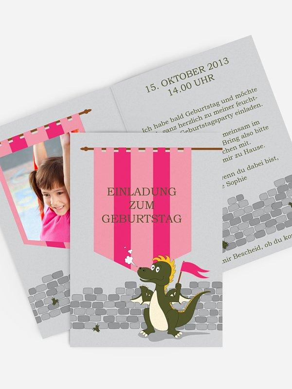 Kindergeburtstagseinladung Drachenparty