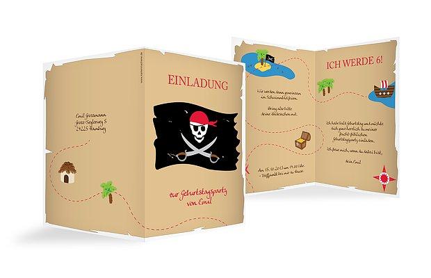 Kindergeburtstagseinladung Pirat