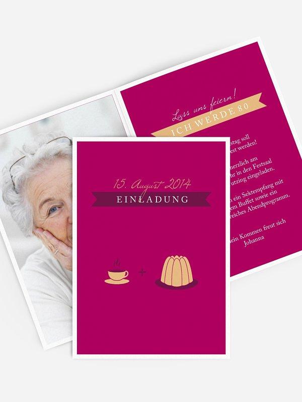 Einladung 80. Geburtstag Kaffeeklatsch