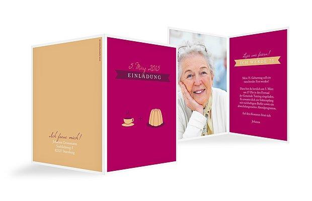 """Einladung zum Geburtstag """"Kaffeeklatsch"""""""