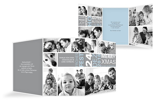 """Weihnachtskarte """"Fotopost"""""""
