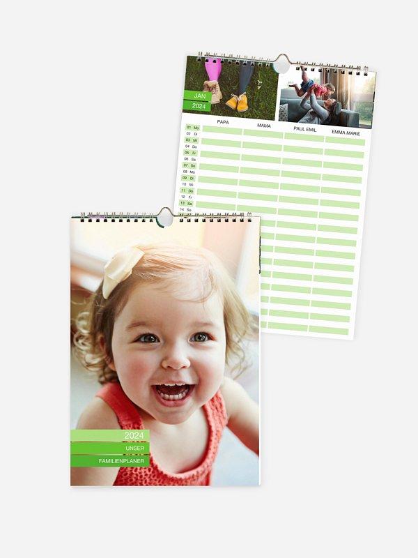 Familienkalender Farbvoll