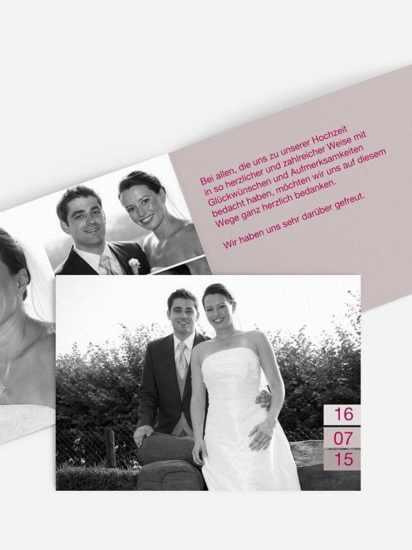 Dankeskarte Hochzeit Farbvoll