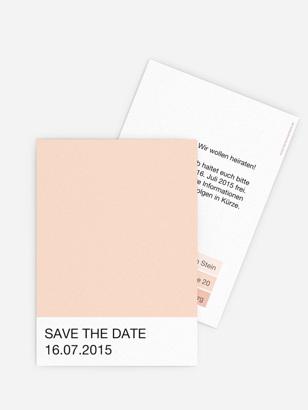 Save-the-Date Karte Farbvoll