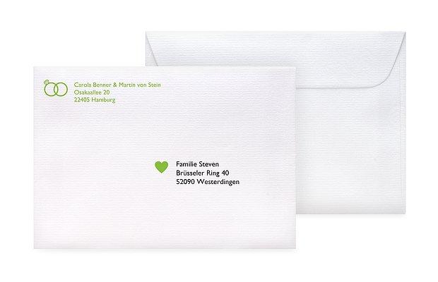 Briefumschlag Beschriften Einladung : Briefumschlag bedruckt quot symbolreich