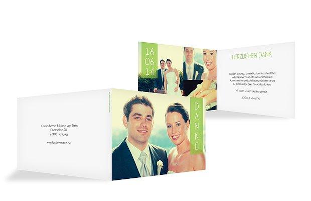 """Dankeskarte Hochzeit """"Banderole"""""""