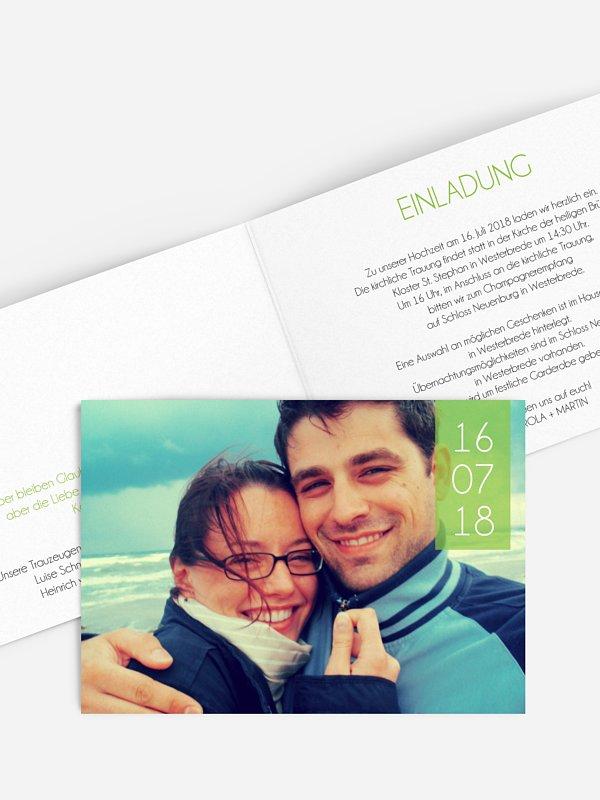 Hochzeitseinladung Banderole