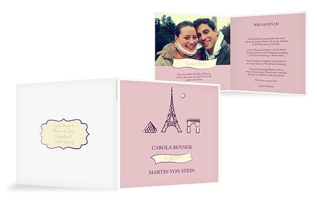 Hochzeitseinladung Paris