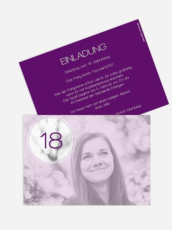 Einladung 18. Geburtstag Kreisel