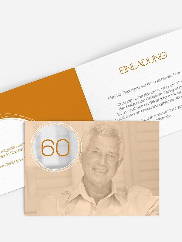 Einladung 60. Geburtstag Kreisel