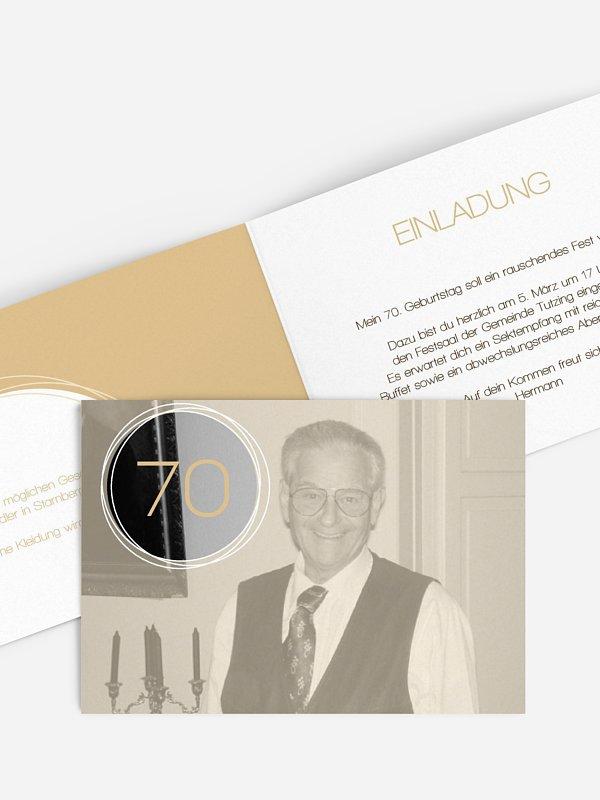 Einladung 70. Geburtstag Kreisel