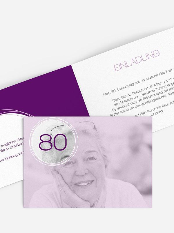 Einladung 80. Geburtstag Kreisel