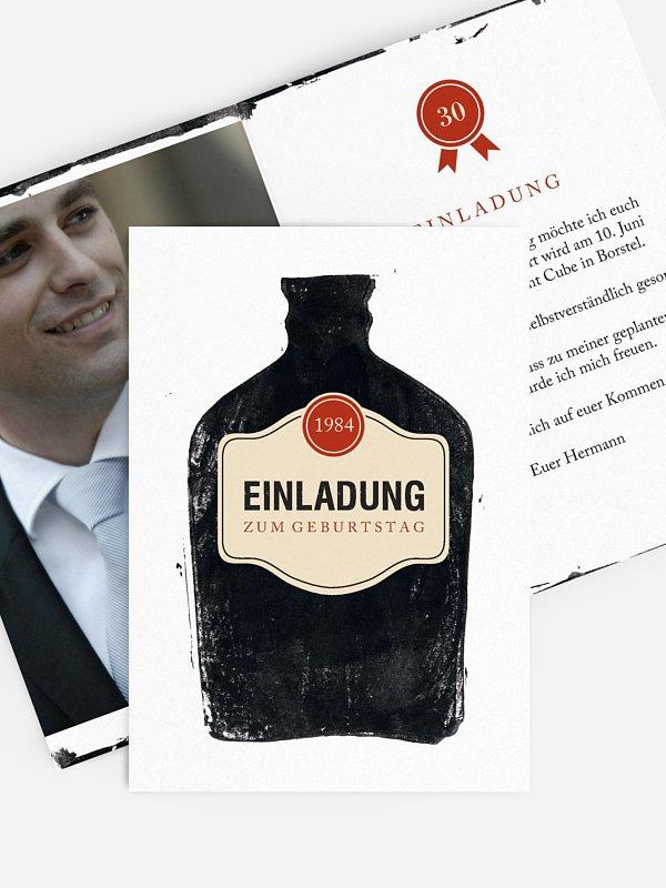 Einladung 30. Geburtstag Whiskey