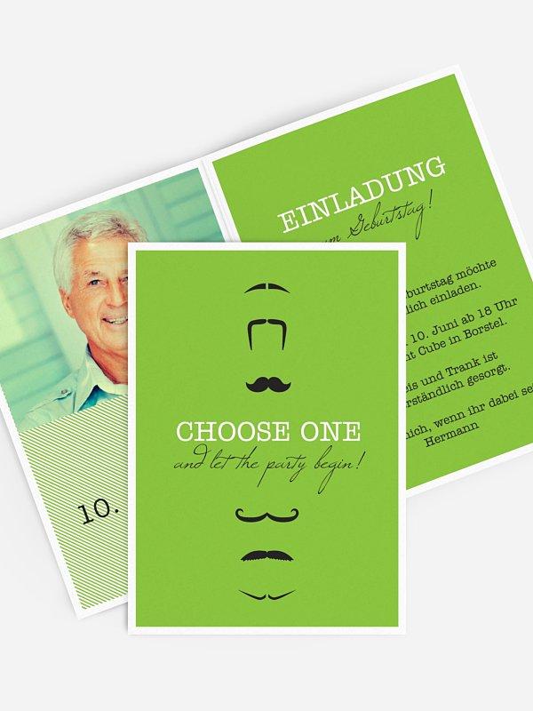 Einladung 70. Geburtstag Choose One