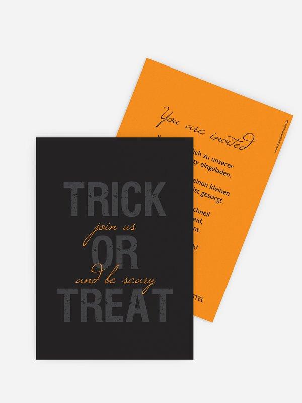 Partyeinladung Trick or Treat