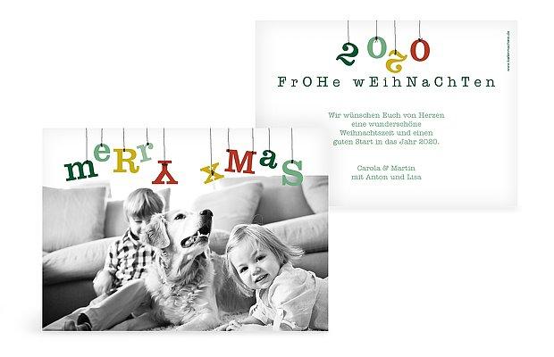 Weihnachtskarte Weihnachtsgirlande