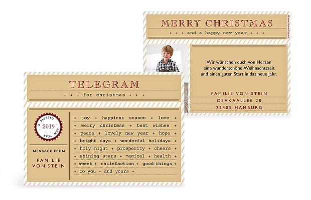 """Weihnachtskarte """"Telegram"""""""