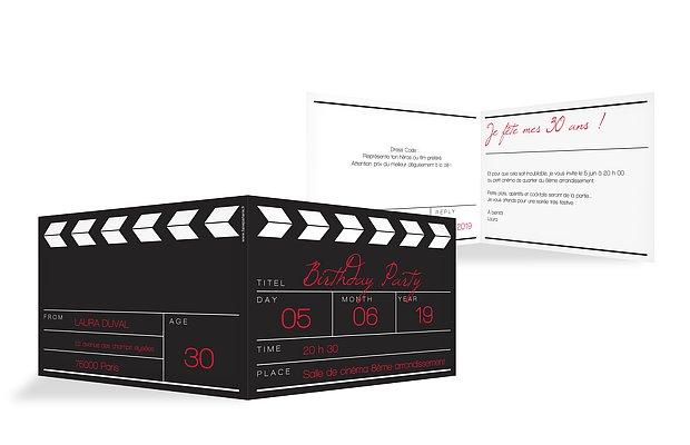 invitation anniversaire 30 cinéma