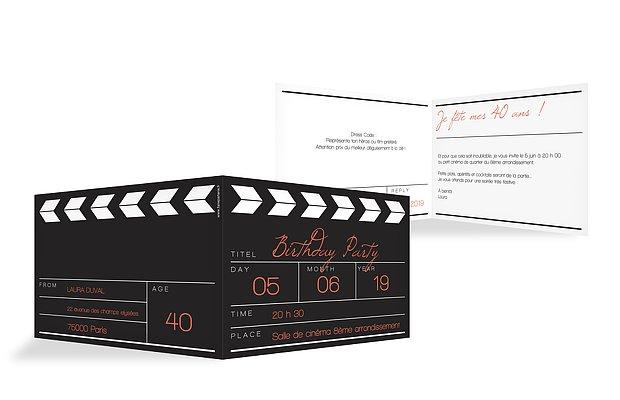 invitation anniversaire 40 cinéma