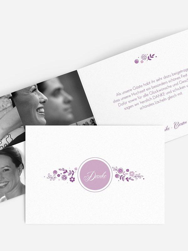 Dankeskarte Hochzeit Blumen